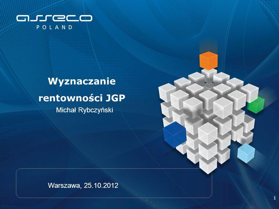 1 Michał Rybczyński Wyznaczanie rentowności JGP Warszawa, 25.10.2012