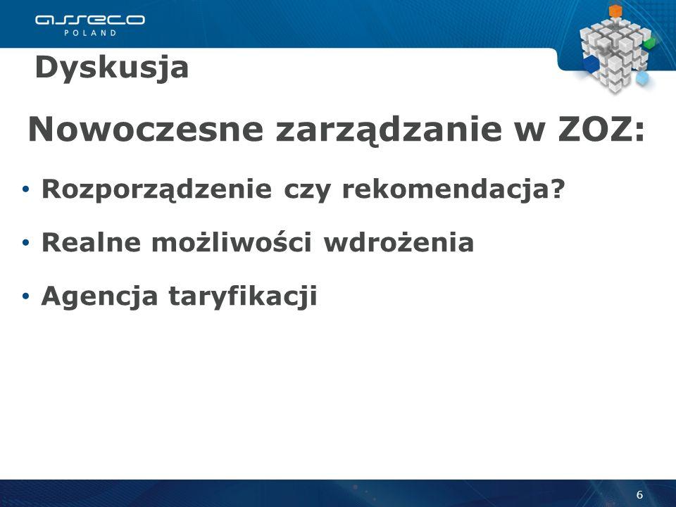 Nowoczesne zarządzanie w ZOZ: Rozporządzenie czy rekomendacja.