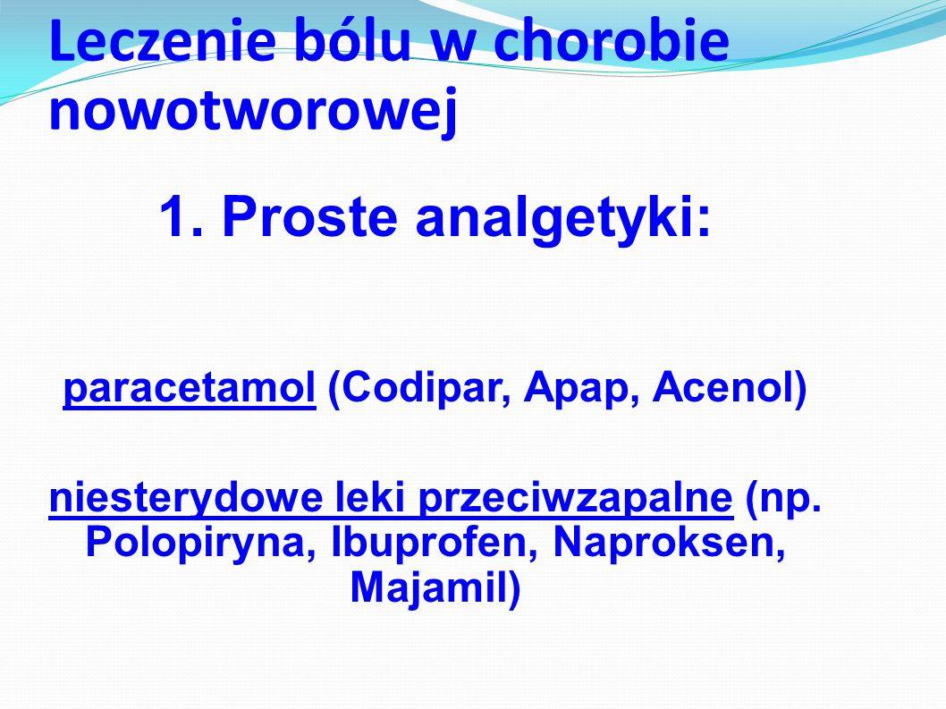 Leczenie bólu w chorobie nowotworowej Leki przeciwbólowe, czyli analgetyki, podzielono na trzy stopnie (grupy):