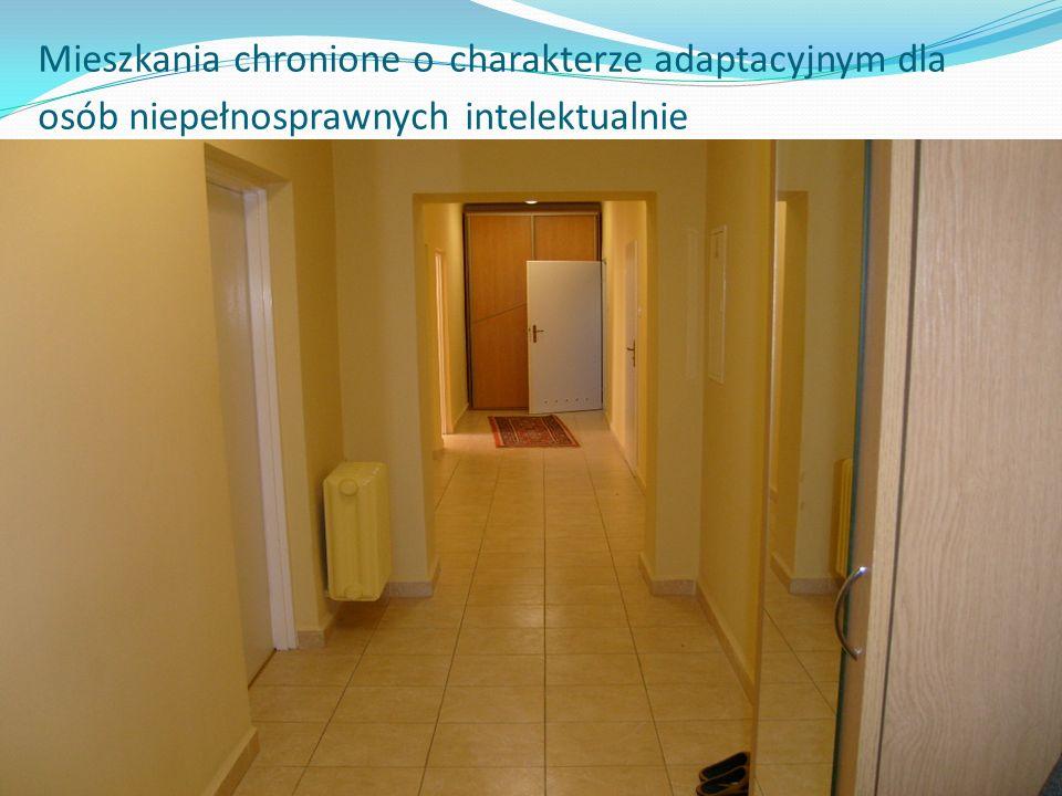 Mieszkania chronione o charakterze adaptacyjnym dla osób niepełnosprawnych intelektualnie