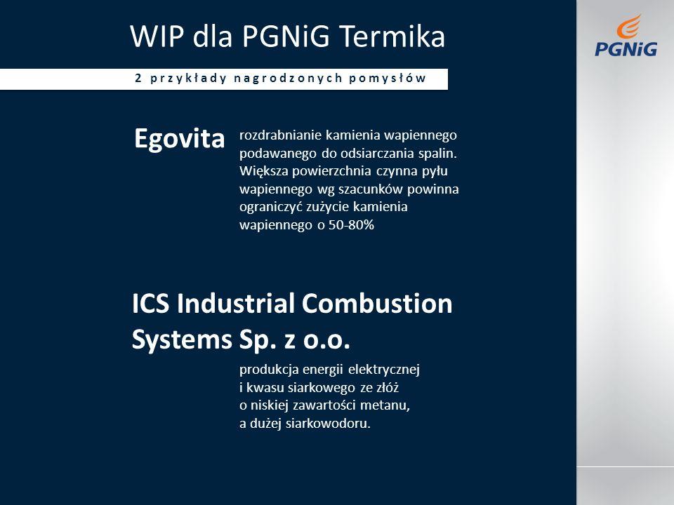 Jakaś stopkadatanazwisko prowadzącego tytuł imprezy WIP dla PGNiG Termika 2 przykłady nagrodzonych pomysłów Egovita rozdrabnianie kamienia wapiennego podawanego do odsiarczania spalin.