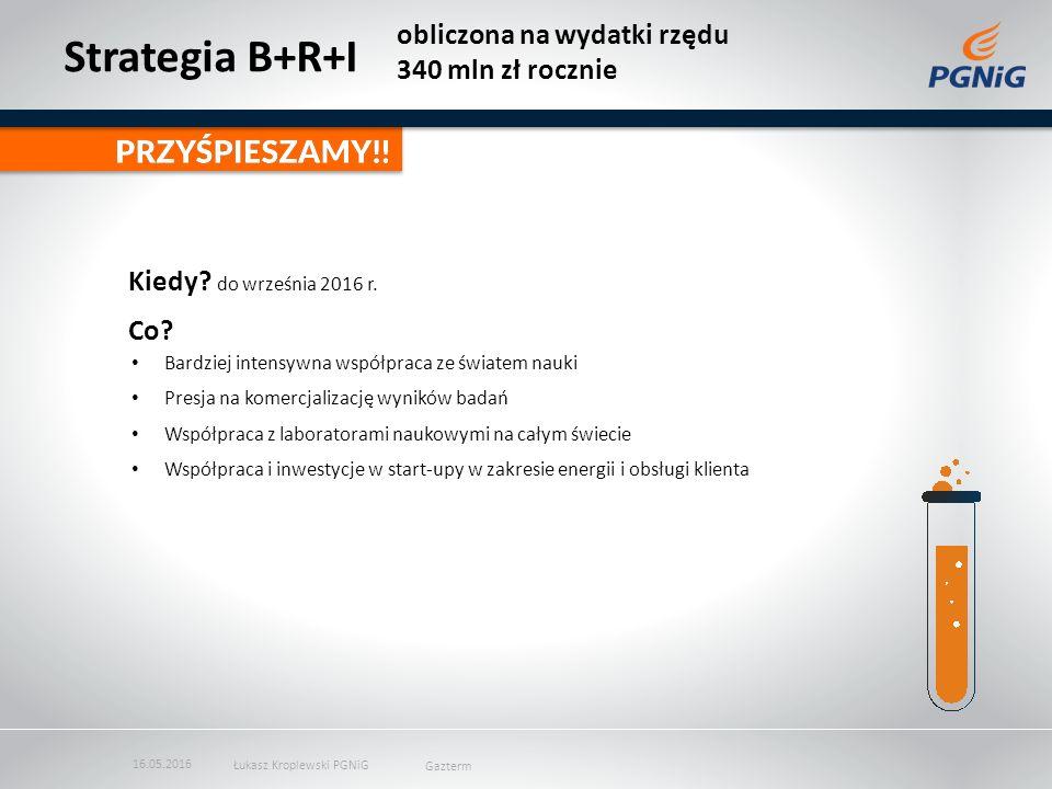 Strategia B+R+I obliczona na wydatki rzędu 340 mln zł rocznie Kiedy.
