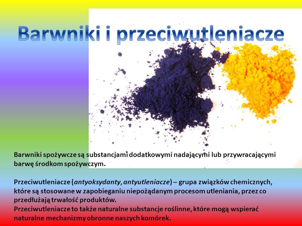 Barwniki spożywcze są substancjami dodatkowymi nadającymi lub przywracającymi barwę środkom spożywczym.