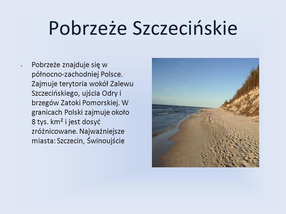 Pobrzeże Szczecińskie Pobrzeże znajduje się w północno-zachodniej Polsce. Zajmuje terytoria wokół Zalewu Szczecińskiego, ujścia Odry i brzegów Zatoki