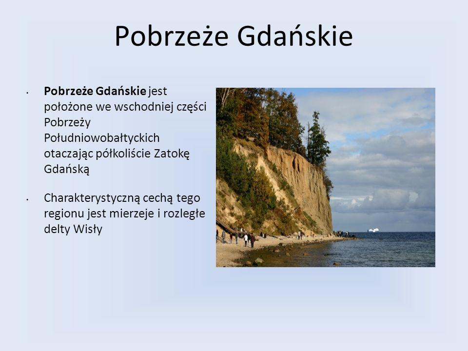 Pobrzeże Gdańskie Pobrzeże Gdańskie jest położone we wschodniej części Pobrzeży Południowobałtyckich otaczając półkoliście Zatokę Gdańską Charakteryst
