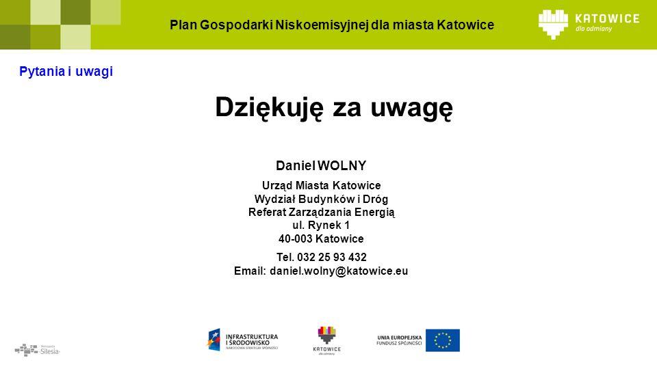 Daniel WOLNY Urząd Miasta Katowice Wydział Budynków i Dróg Referat Zarządzania Energią ul.