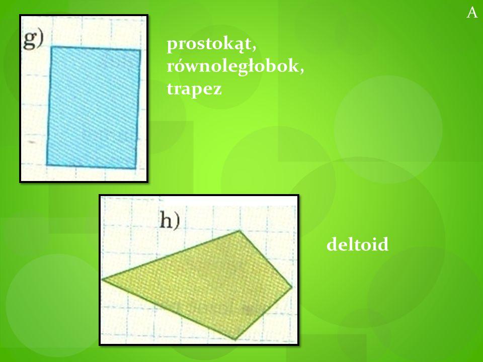 prostokąt, równoległobok, trapez deltoid A