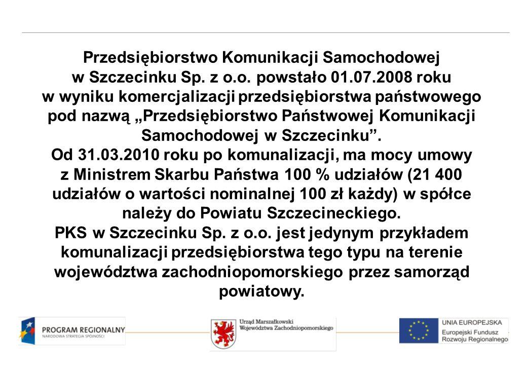 Przedsiębiorstwo Komunikacji Samochodowej w Szczecinku jest spółką komunalną, której właścicielem jest samorząd Powiatu Szczecineckiego.