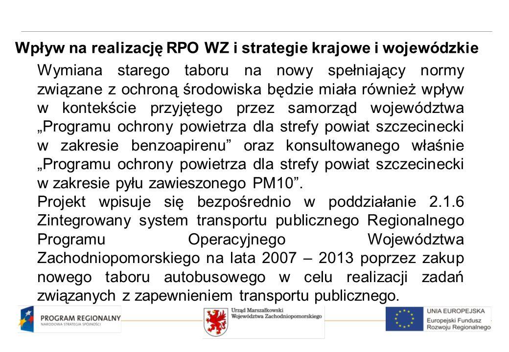 """Projekt jest zgodny z celem strategicznym NSRO i wpisuje się w cel główny sformułowany dla SRK, którym jest """"Podniesienie poziomu i jakości życia mieszkańców Polski ."""
