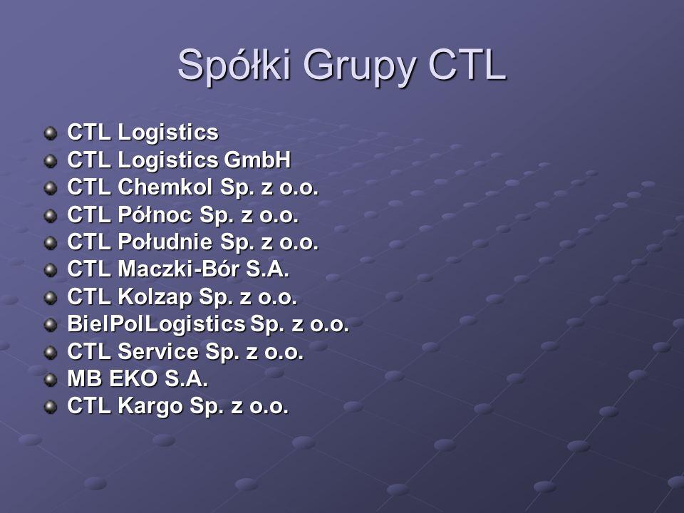 Spółki Grupy CTL CTL Logistics CTL Logistics CTL Logistics GmbH CTL Chemkol Sp.