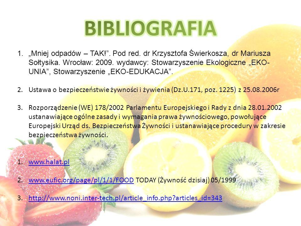 """1.""""Mniej odpadów – TAK!"""". Pod red. dr Krzysztofa Świerkosza, dr Mariusza Sołtysika. Wrocław: 2009. wydawcy: Stowarzyszenie Ekologiczne """"EKO- UNIA"""", St"""