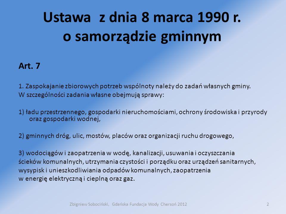 Ustawa z dnia 8 marca 1990 r. o samorządzie gminnym Art.