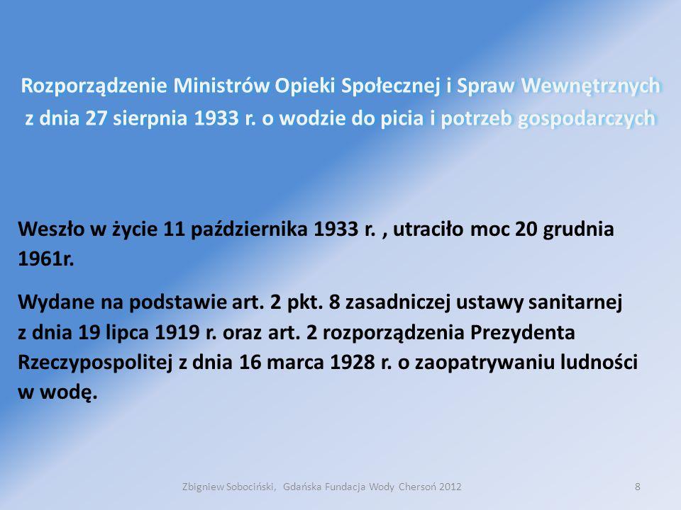 Dziękuję za uwagę Zbigniew Sobociński zbigniew.s@gfw.pl Zbigniew Sobociński, Gdańska Fundacja Wody Chersoń 201219