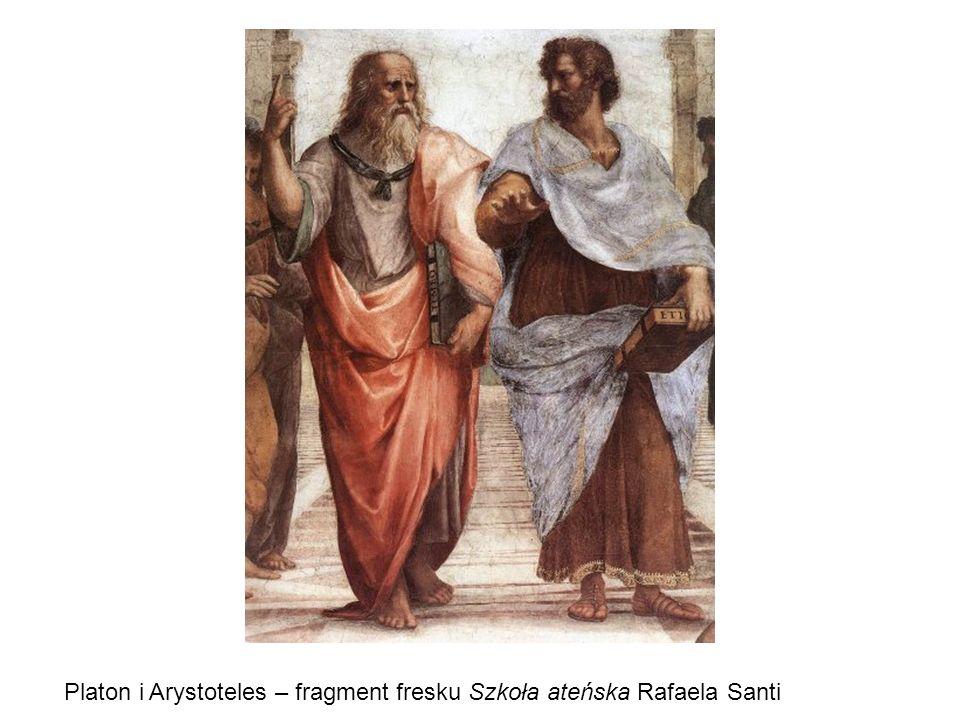 Platon i Arystoteles – fragment fresku Szkoła ateńska Rafaela Santi