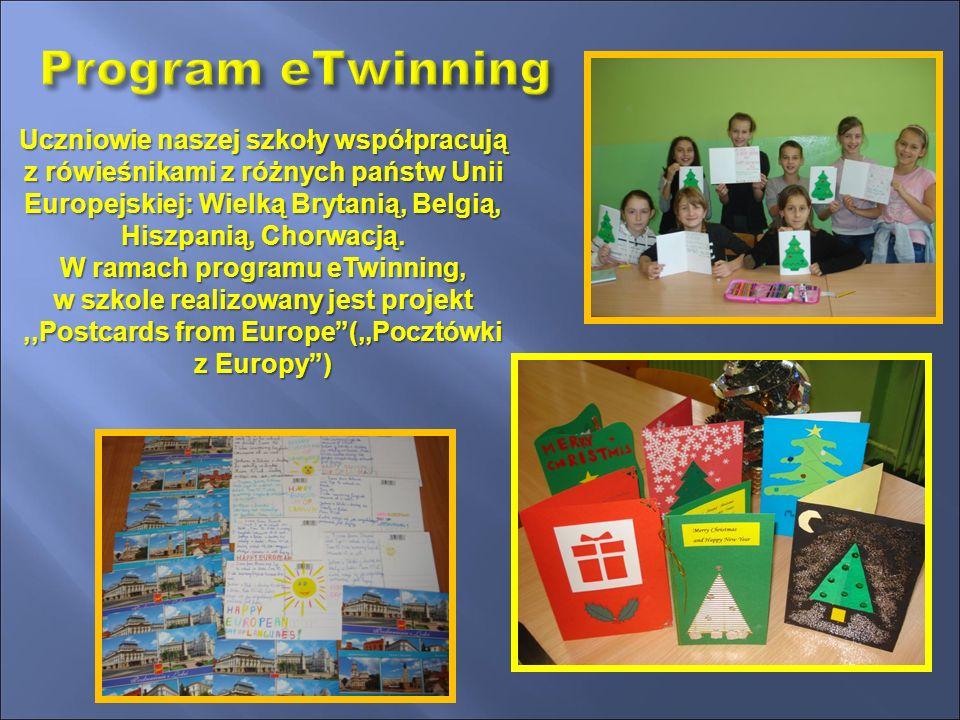 Uczniowie naszej szkoły współpracują z rówieśnikami z różnych państw Unii Europejskiej: Wielką Brytanią, Belgią, Hiszpanią, Chorwacją.
