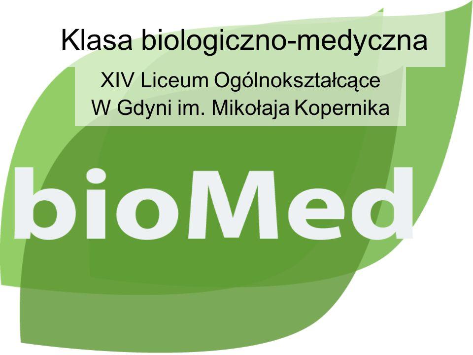 Klasa biologiczno-medyczna XIV Liceum Ogólnokształcące W Gdyni im. Mikołaja Kopernika