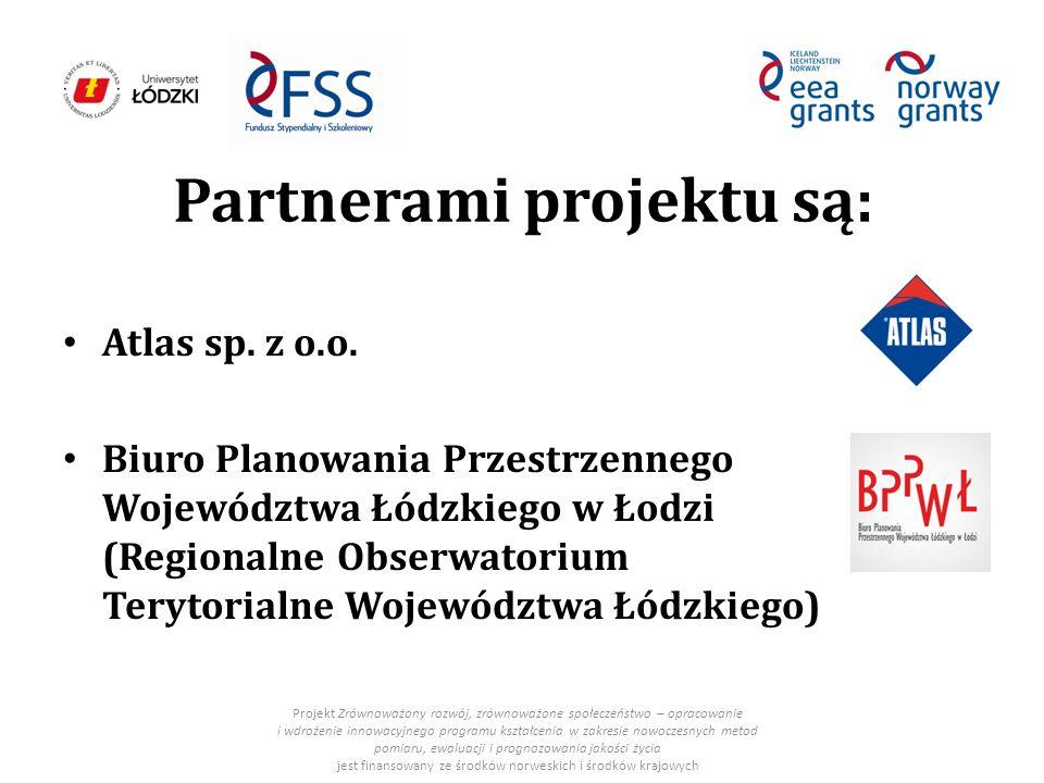 Partnerami projektu są: Atlas sp. z o.o.