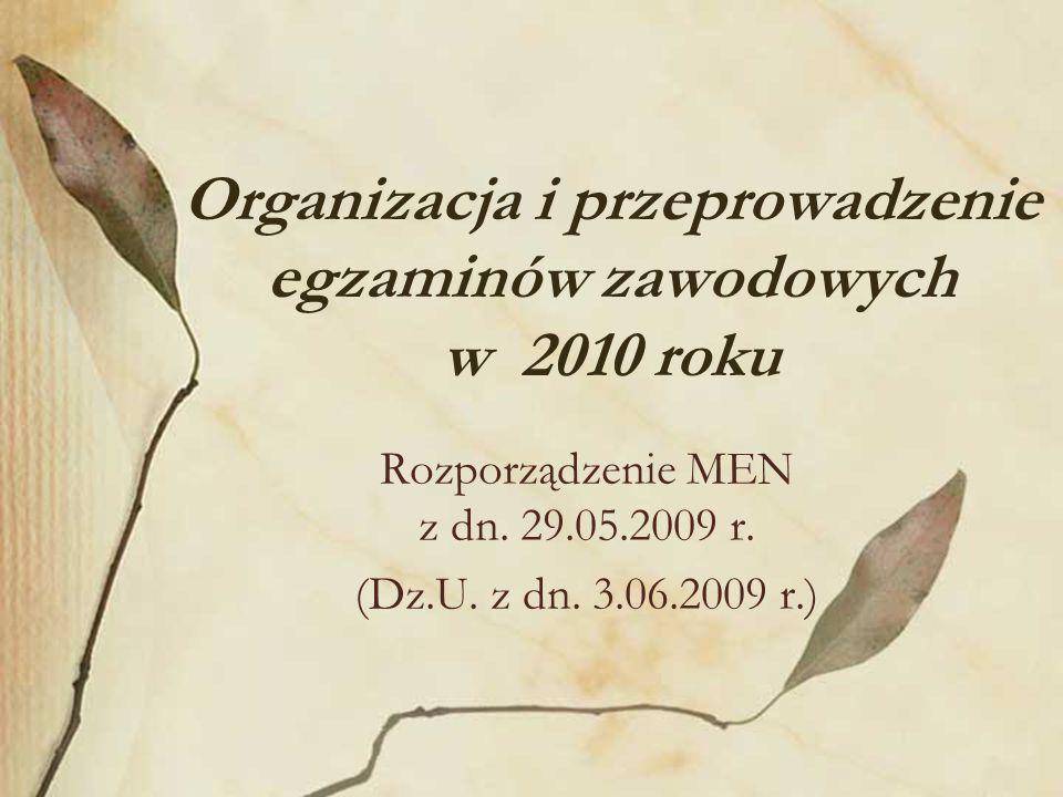 Rozporządzenie MEN z dn. 29.05.2009 r. (Dz.U. z dn.