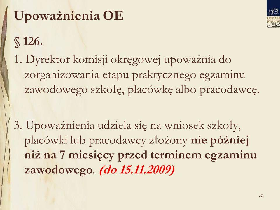 Upoważnienia OE § 126. 1.