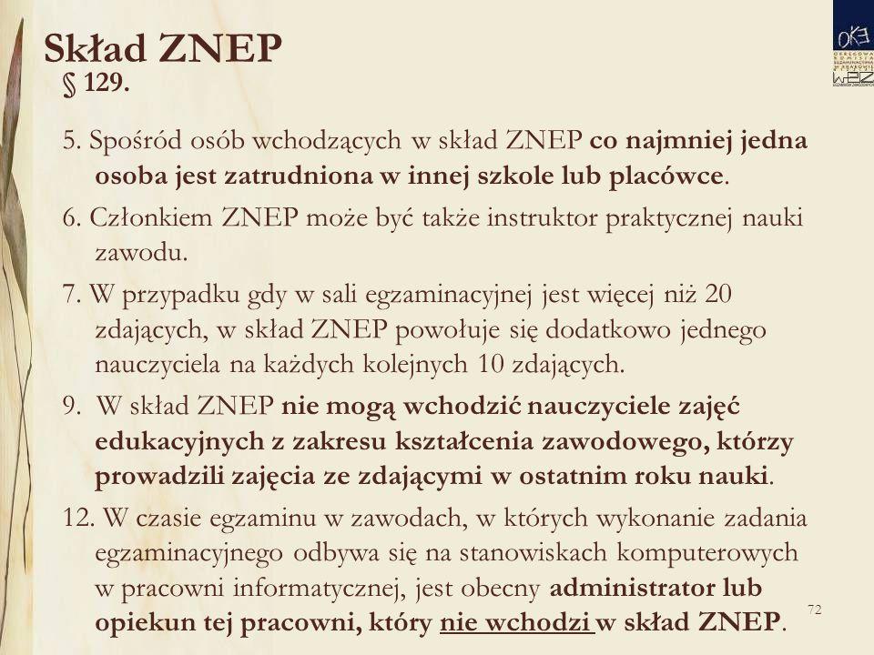 72 Skład ZNEP § 129. 5.