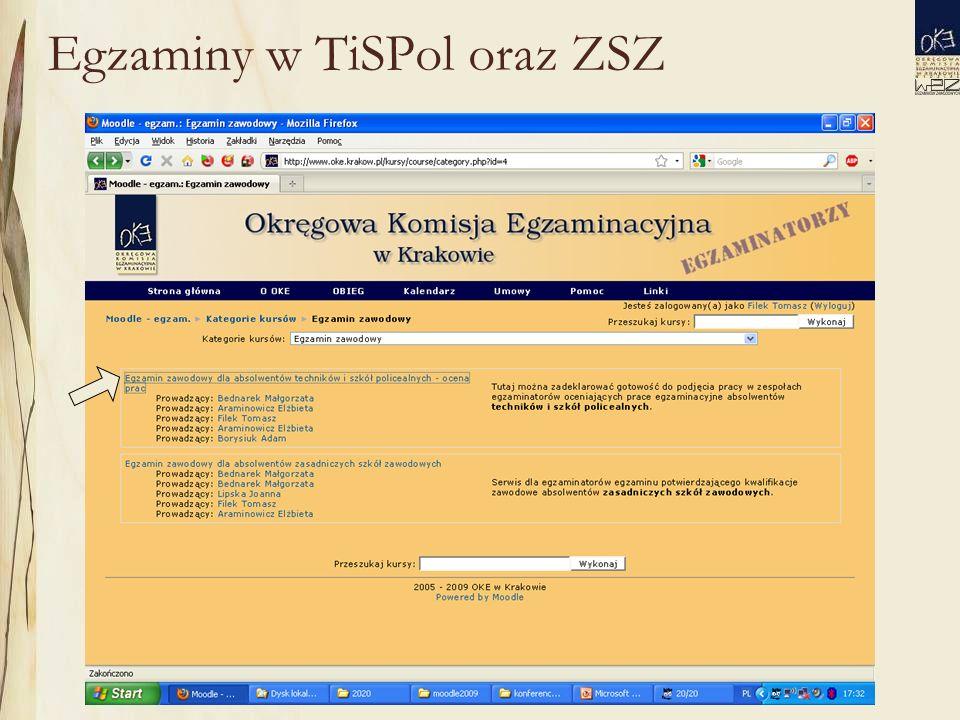 Egzaminy w TiSPol oraz ZSZ