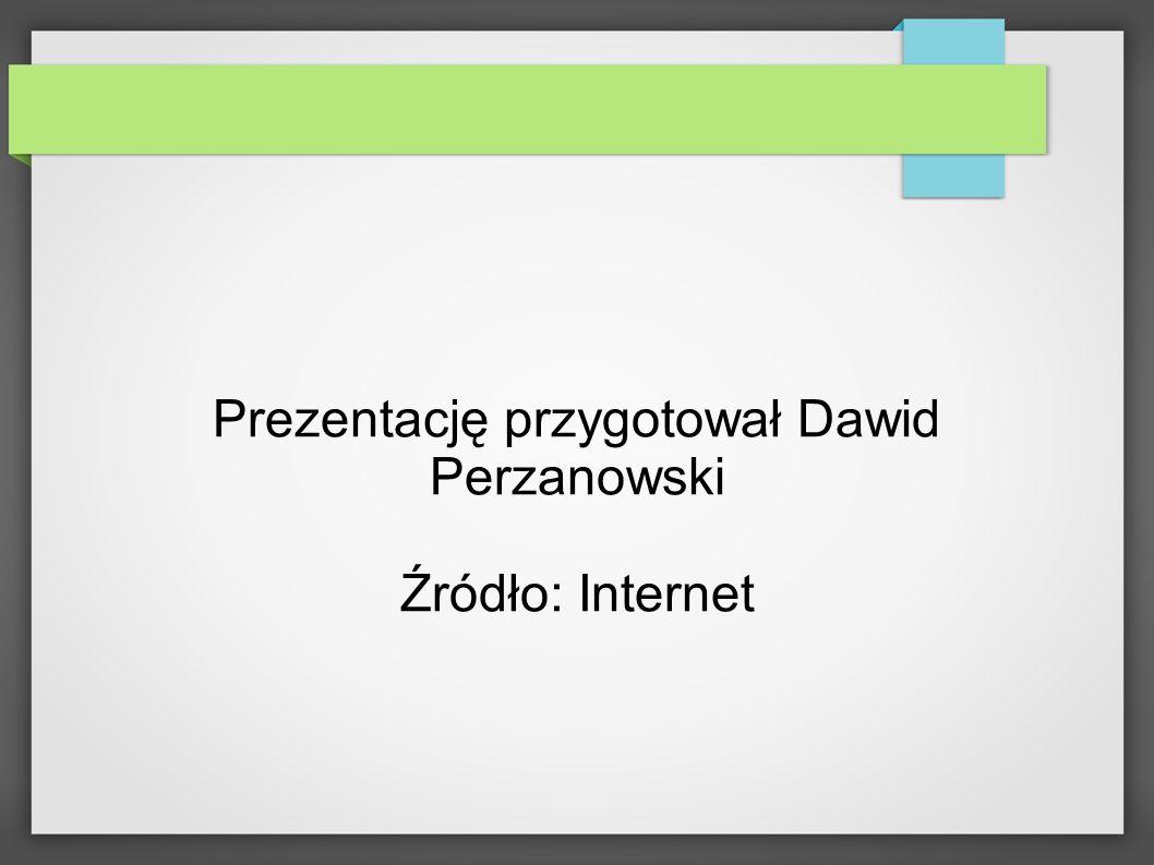 Prezentację przygotował Dawid Perzanowski Źródło: Internet