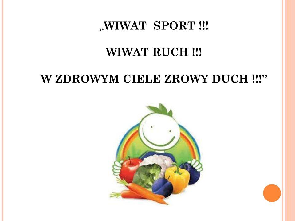 """ WIWAT SPORT !!! WIWAT RUCH !!! W ZDROWYM CIELE ZROWY DUCH !!!"