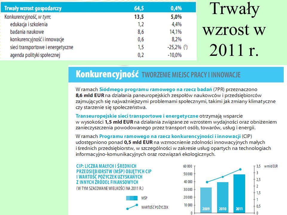 Trwały wzrost w 2011 r.
