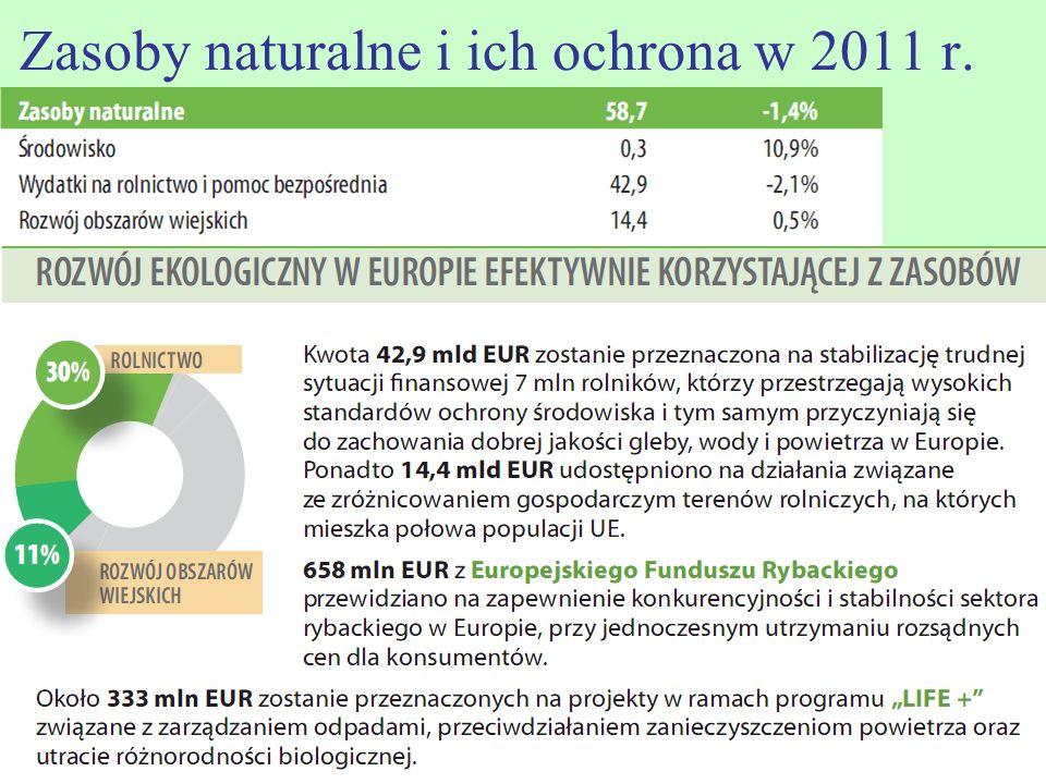 Zasoby naturalne i ich ochrona w 2011 r.