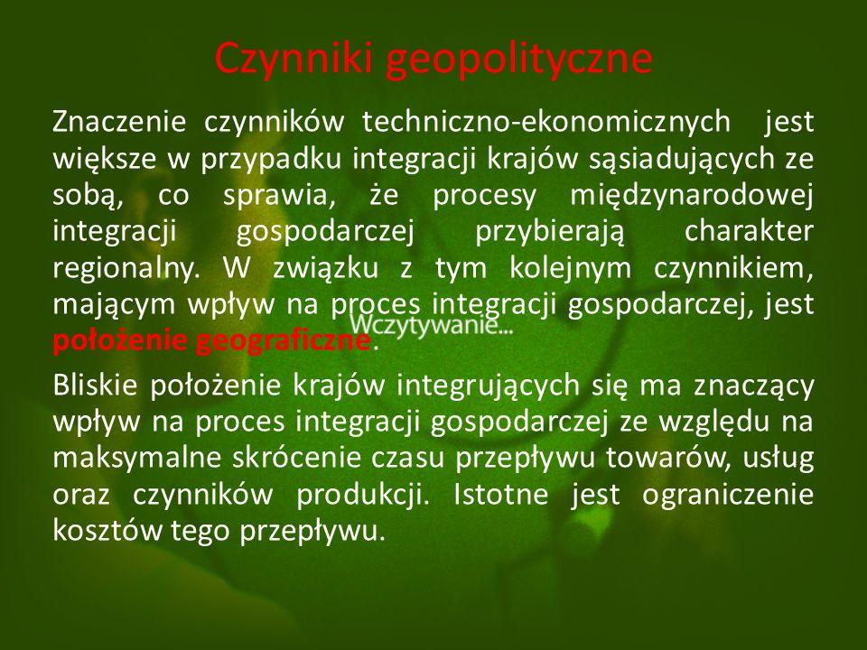 Czynniki techniczno - ekonomiczne Stworzenie jednolitego organizmu gospodarczego nie jest możliwe bez istnienia infrastruktury o charakterze technicznym.