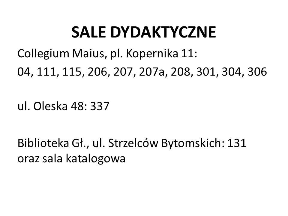 SALE DYDAKTYCZNE Collegium Maius, pl.