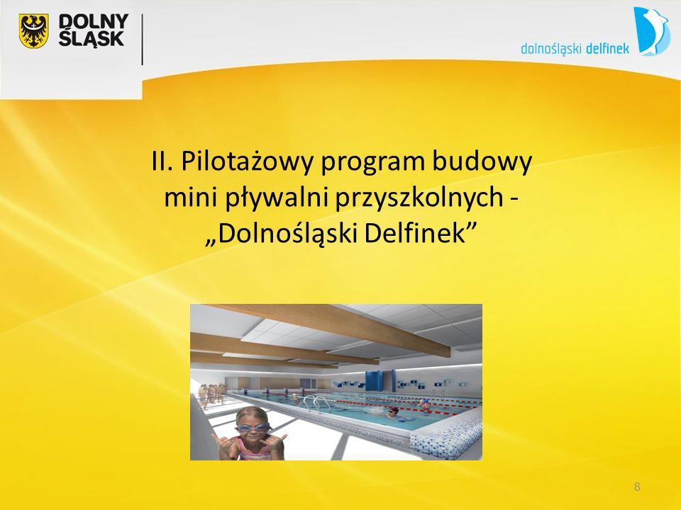 """8 II. Pilotażowy program budowy mini pływalni przyszkolnych - """"Dolnośląski Delfinek"""