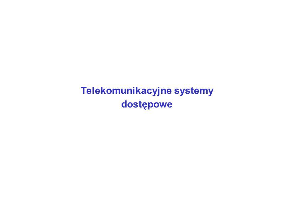 Sieć dostępowa - połączenie pomiędzy centralą abonencką a urządzeniem abonenckim.