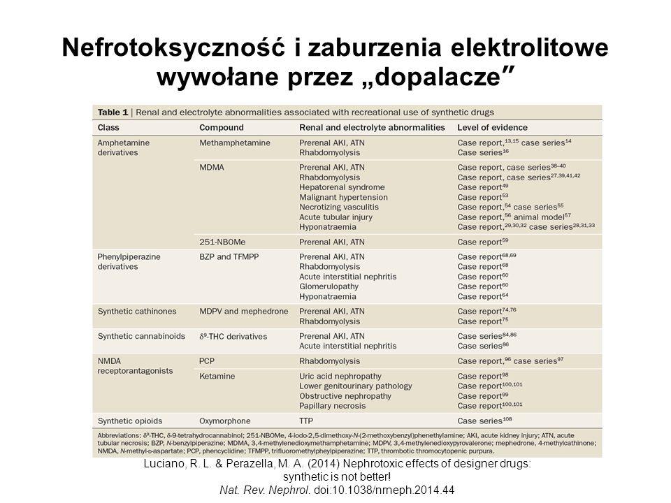 """Nefrotoksyczność i zaburzenia elektrolitowe wywołane przez """"dopalacze Luciano, R."""