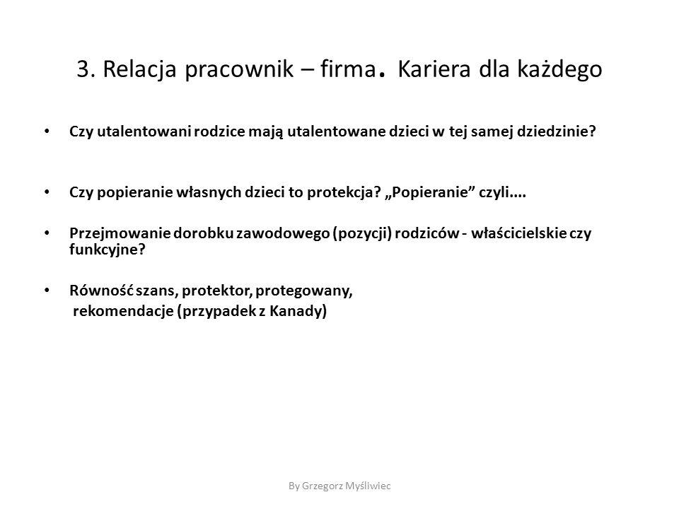 By Grzegorz Myśliwiec 3. Relacja pracownik – firma.