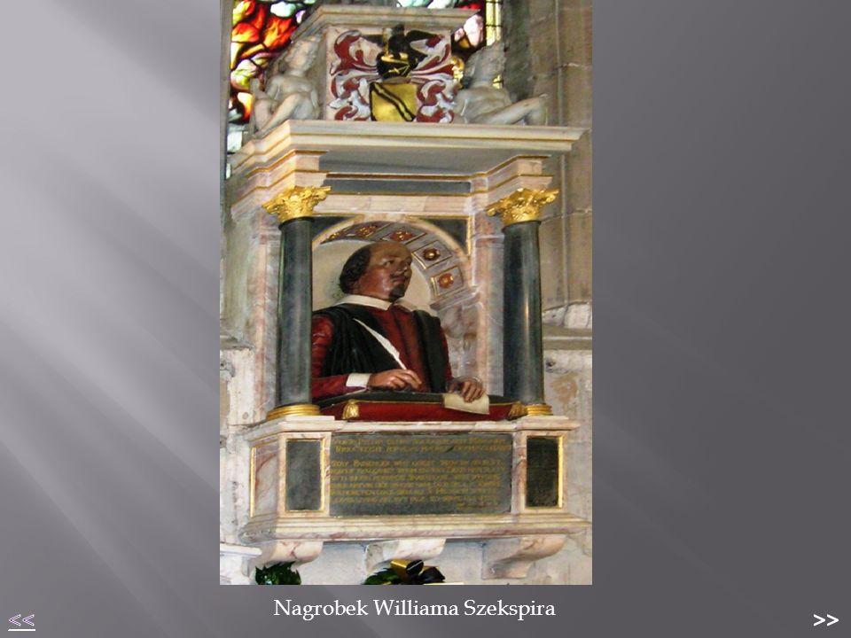 """ The Globe Theatre – """"Teatr Williama Shakespeare ' a  Założony w 1599 roku przez Richarda i Cuthberta Burbage w 1599 roku;  Nie działał długo – tylko 45 lat do 1644 roku  Występował tam zespół Lord Chamberlain's Men, którego członkiem i udziałowcem był sam William (tam zaczynał karierę aktorską)  Na jego deskach odbywały się prapremiery wielu jego sztuk m.in."""
