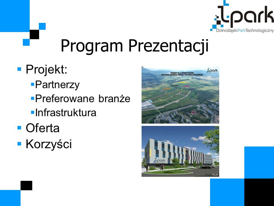 Program Prezentacji  Projekt:  Partnerzy  Preferowane branże  Infrastruktura  Oferta  Korzyści