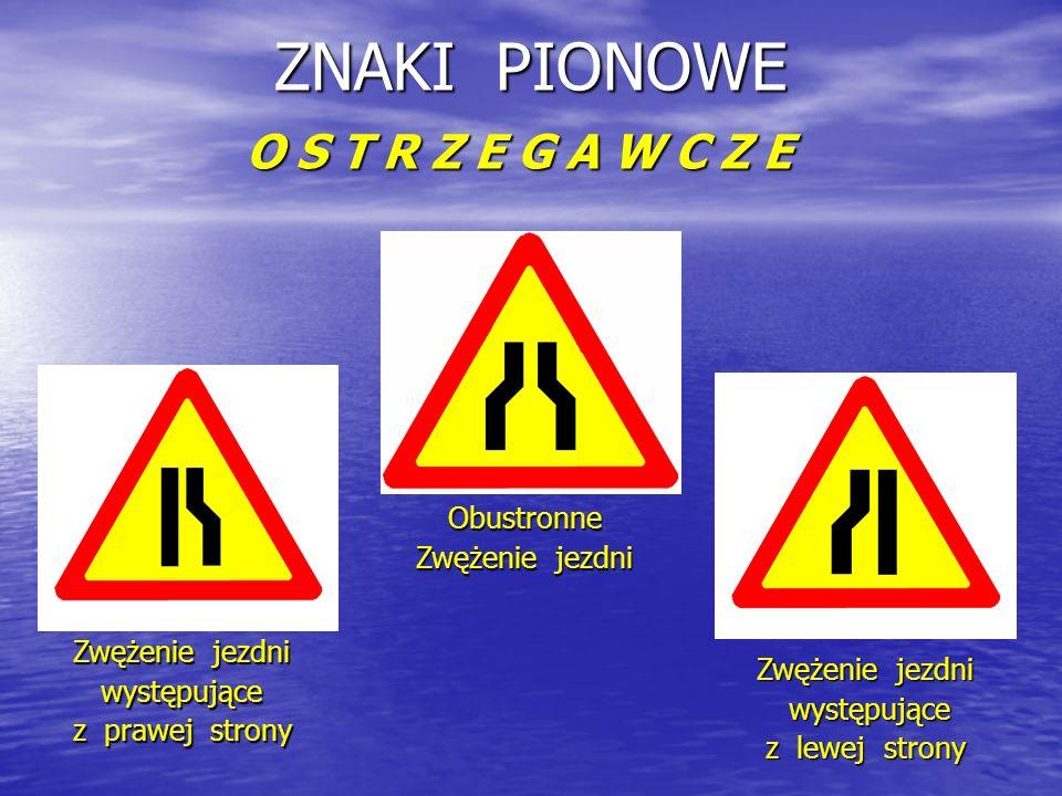 ZNAKI PIONOWE O S T R Z E G A W C Z E 1. 2.