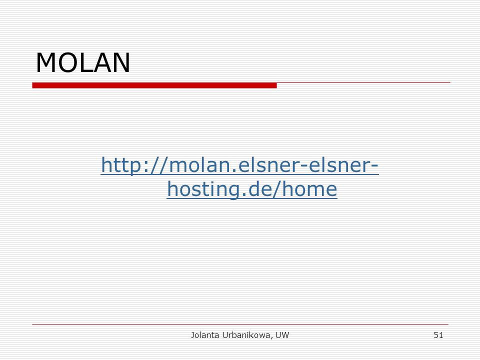 MOLAN http://molan.elsner-elsner- hosting.de/home Jolanta Urbanikowa, UW51
