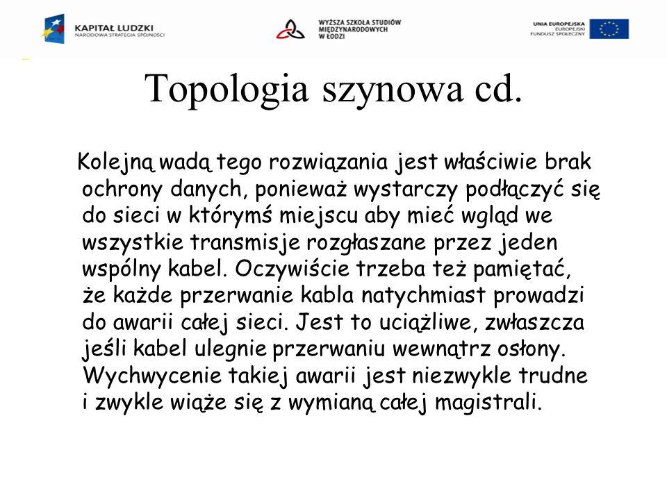 Topologia szynowa cd.