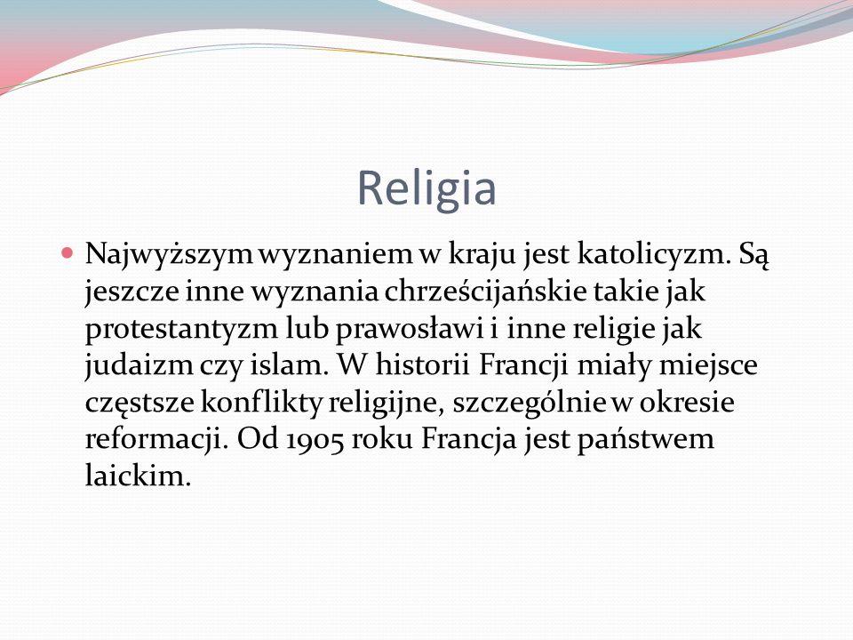 Religia Najwyższym wyznaniem w kraju jest katolicyzm.