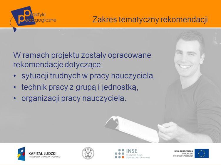 Techniki pracy z grupą i jednostką Zakres merytoryczny Wykorzystanie ICT w pracy nauczyciela –W Rozporządzeniu Ministra Nauki i Szkolnictwa Wyższego z dnia 17 stycznia 2012 r.