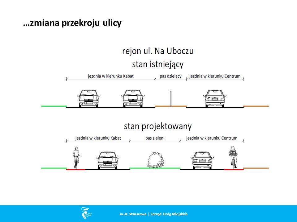 …zmiana przekroju ulicy m.st. Warszawa | Zarząd Dróg Miejskich