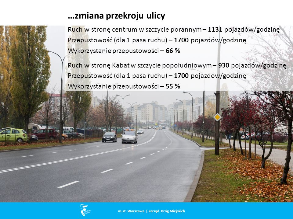 …zmiana przekroju ulicy m.st.