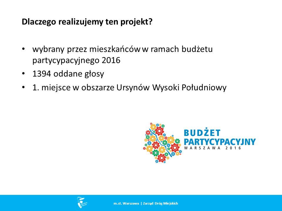 wybrany przez mieszkańców w ramach budżetu partycypacyjnego 2016 1394 oddane głosy 1.