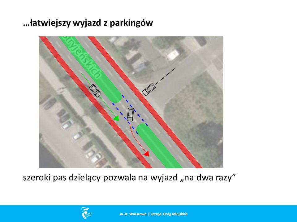 …łatwiejszy wyjazd z parkingów m.st.