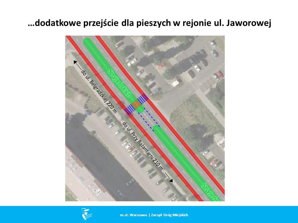 …dodatkowe przejście dla pieszych w rejonie ul. Jaworowej m.st. Warszawa | Zarząd Dróg Miejskich
