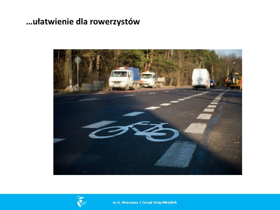 …ułatwienie dla rowerzystów m.st. Warszawa | Zarząd Dróg Miejskich