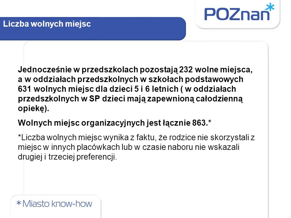 Nowe oddziały przedszkolne w przedszkolach Dzięki utworzeniu zespołów szkolno - przedszkolnych z dniem 1 września 2013 roku wzrośnie liczba miejsc organizacyjnych przygotowanych przez Miasto Poznań.