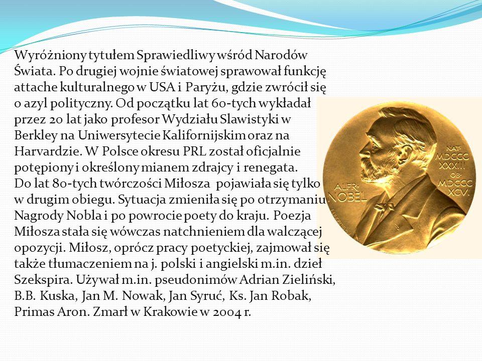 Wyróżniony tytułem Sprawiedliwy wśród Narodów Świata.